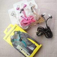 harga Headset Bass Zipper Earphone/Headset Tali jaket Tokopedia.com