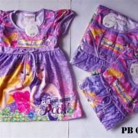 Dress motif princess purple / dress anak / dress baby / pakaian anak
