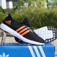 Sepatu Adidas Ultra Boost Revolution Black Orange Premium (PROMO)