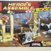 Jual Lego SY Spiderman, Rhino and Sandman Super Villain Team Up Murah