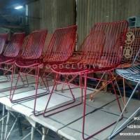 Iron chair, Kursi cafe besi, Kursi teras, Kursi kafe metal unik