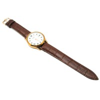 Mortima Jam Tangan Kasual Pria Leather Strap - Model 2 - Brown/White