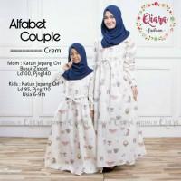 alfabet couple dress gamis katun jepang