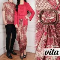 Batik Serambit Baju Couple Kebaya VITA Setelan Kondangan Resmi A146