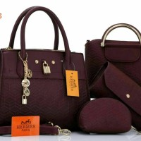 New arrival Hermes Bibliotheque Textured