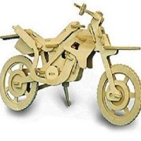 Mainan Edukatif 3d Wooden Puzzle Woodcraft Contruction KitS MOTOR