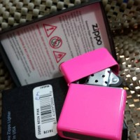 Zippo Original 28886 NEON PINK ( Gratis Request Custom Grafir )