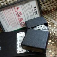 Zippo Original 236 REG BLACK CRACKLE ( Gratis Request Custom Grafir )