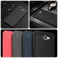 Softcase Silikon Samsung Galaxy J5 J7 Prime Texture Carbon Anti Gores