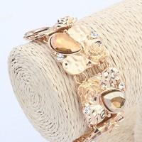 Jual Gelang Korea Premium Charming Gold Water Drop Shape Gemstone Murah