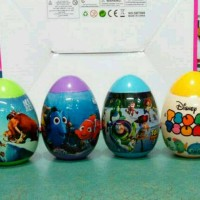 Egg surprise toy story, finding nemo, ice age, tsum tsum, 1set isi 4