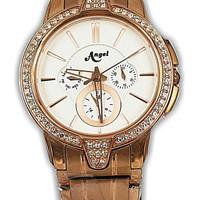 Angel 6874G-14 jam tangan wanita stainless Rose Gold-30mm ori Buana Ja