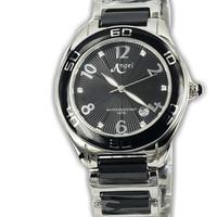 Angel 6365-51 jam tangan wanita Keramik Hitam-35mm ori Buana Jam