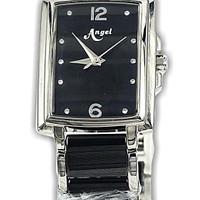 Angel 6880L-51 Blk jam tangan wanita keramik hitam-25x35mm ori Buana J
