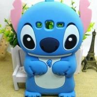 Case 4D Stitch Samsung Galaxy J1 ACE/Karakter/Soft/Silikon/3D/Rubber
