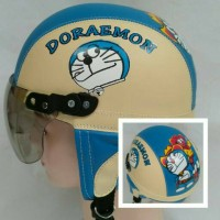 helm anak retro doraemon