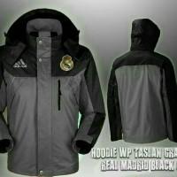 Jaket bola Real Madrid Waterproof black-gray
