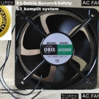 Cooling FAN AC 20CM / Kipas Fan panel ORIX AC 220V Ball 20 cm Bearing
