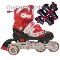 ... harga Sepatu Roda Bajaj + Deker   Pelindung Inline Skate Satu Set  Tokopedia.com 4345517561