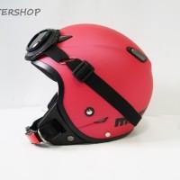 harga Helm Retro Pilot Klasik Jpn Momo Magenta Doff + Kacamata Tokopedia.com