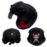 harga Helm Pilot Bro.co Motif One Piece Black Solid 3 Side Bordir Tokopedia.com