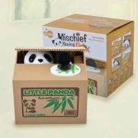 celengan unik panda mencuri uang little panda