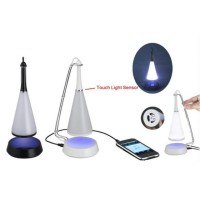 Touch Sensor LED Table Lamp with Bluetooth Speaker