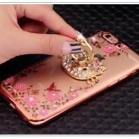 Jual Diamond Case Flower + Ring Diamond iPhone/ Samsung/ Xiaomi/ Oppo Murah