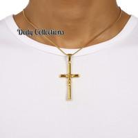 Jual Kalung Titanium Liontin Gold Jesus Pria & wanita Murah