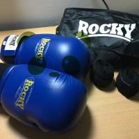 Sarung Tinju Rocky Boxing & MuaY Thai - Biru - 14oz
