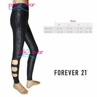 celana fitness legging wanita legging cutout leather limited edition