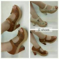 Jual Sepatu wanita high heels sol karet Kickers sandal kondangan 5cm Murah