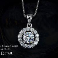 Premium Jewelry Kalung Perak Lapis Emas Putih / Gold Plated SF-J-2