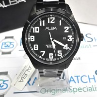 Jam Tangan ALBA Pria AS9689X1 All Black Water Resist 10 Bar ORIGINAL