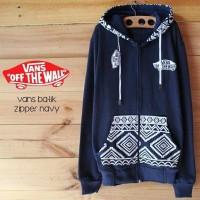 Jaket premium Vans Batik Navy hoodie murah pria wanita Grosir Murah