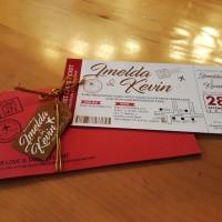Undangan Pernikahan / Wedding invitation Boarding Pass Tag