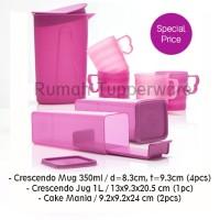 Tupperware Crescendo Jug, Mugs & Cake Mania Set
