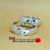 Jual cincin kawin couple palladium R3385 Murah
