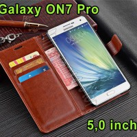 Flip Cover Samsung Galaxy On7 Pro / On 7 Pro Leather Case Top Quality