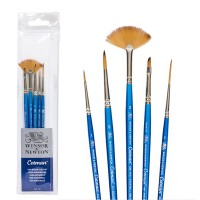 Jual Winsor & Newton Cotman Short Handle Brush 5 pcs Set Murah