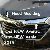 HOOD MOULDING LIST GRILL ATAS LIST CHROME KAP MESIN GRAND NEW AVANZA