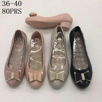 JELLY SHOES HEELS PITA BARBIE 887-4 80PRS WEDGE WEDGES GLASS