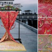 Kain Batik Tulis Madura Dwi Warna Beda Sekarjagat Pink Hijau LB 388