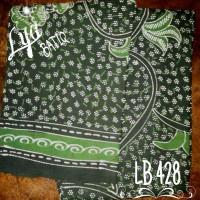 Kain Batik Madura Melati Hijau Daun LB 428
