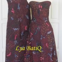 (Sepasang/2pc) Kain Batik Tulis Madura Hitam Klasik LB 508 - 509