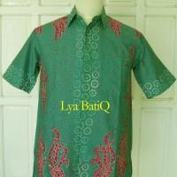Kemeja Batik Tulis Madura Modern Lengan Pendek Bunga Titik LBK 310 (M)