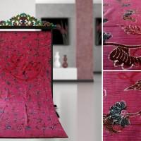 Kain Batik Tulis Madura Serat Kayu Pink LB 537