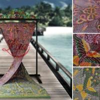 Kain Batik Tulis Madura Bolak Balik Sekarjagat Lavender Hijau LB 534