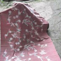 Kain Batik Tulis Madura Bunga Gelombang Bulat LB 524