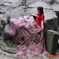 Kain Batik Tulis Sutra Madura Sekarjagat Merah LBS 10